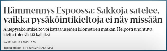 Espoo-kaupunki-sakot