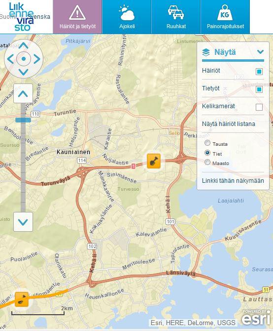 Liikennevirasto-karttapalvelu