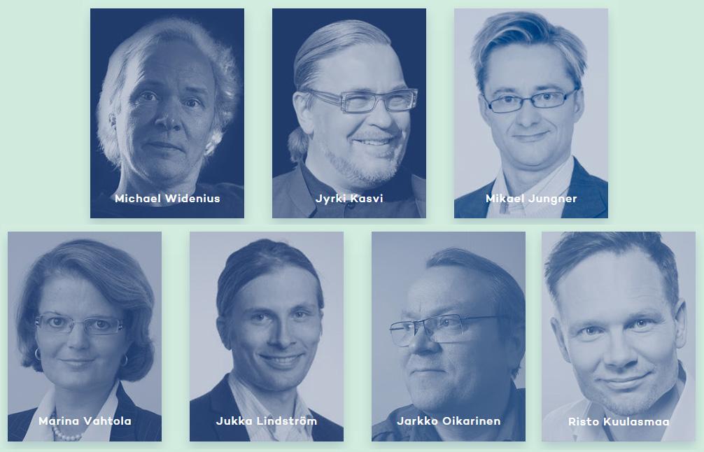 Blue Arrow Awardsin tuomaristo muodostuu tunnetuista digitaalisten palveluiden osaajista. Kuvat bluearrowawards.com