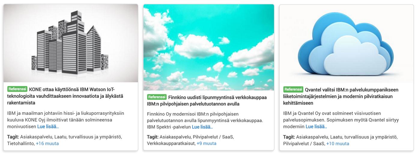 IBM-kumppaniverkosto avaa ite wikissä kesän ja syksyn mittaan mielenkiintoisia toteutuksia digitalisaatiokentästä. Kooste parhaista toteutuksista julkaistaan ite wikin blogissa lokakuussa ennen BusinessConnect-tapahtumaa.