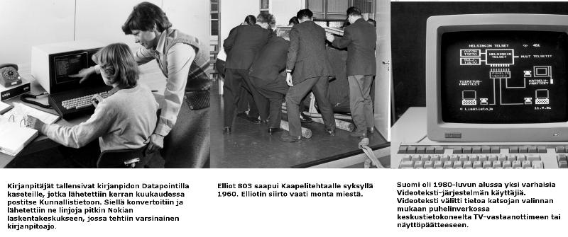 Tietotekniikan historiaa TIVIAn arkistoista.