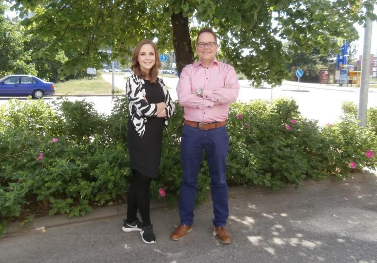 Haastattelussa Pauliina Vuorinen ja Matti Pajula