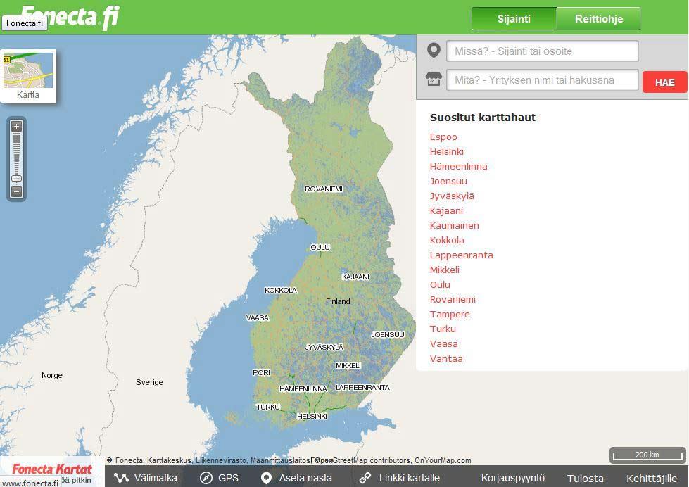 Paikkatieto Gis Ja Karttapalvelut Ite Wiki Digitalisoinnin Opas